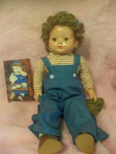 """VINTAGE EFFANBEE 18"""" COMPOSITION CLOTH TOMMY TUCKER/ MICKY DOLL #Effanbee #Dolls"""