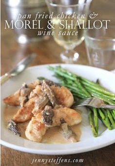 Chicken with Morel Mushroom & Shallot Sauce