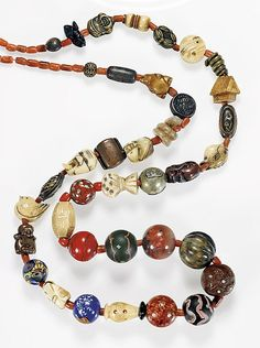 ANTIQUE JAPANESE OJIME BEAD NECKLACE