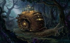 78 Steampunk Wallpapers Wallpapers available. Share Steampunk Wallpapers with your friends. Submit more Steampunk Wallpapers Steampunk City, Ville Steampunk, Steampunk Kunst, Fantasy Forest, Fantasy House, Fantasy World, Forest Art, Dark Forest, Tier Wallpaper