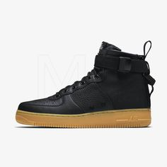 09948cfcecd3 Buty Męskie Nike SF Air Force 1 Mid Blackgum 917753 003 •cena 494