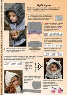 Exceptional Stitches Make a Crochet Hat Ideas. Extraordinary Stitches Make a Crochet Hat Ideas. Crochet Hooded Scarf, Crochet Baby Beanie, Crochet Scarves, Crochet Clothes, Baby Knitting, Crochet Diy, Crochet For Kids, Crochet Winter, Trendy Baby Girl Clothes