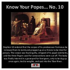 Crazy religious folks...   Know your popes: Stephen VII   https://www.facebook.com/thewaronfanaticism?sk=photos #atheism #popes