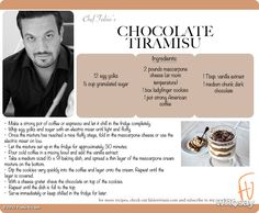 Fabio Vivianis Chocolate Tiramisu is so easy to make