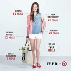 Look good & do good at the same time: every FEED USA + Target purchase will help provide meals to families in America