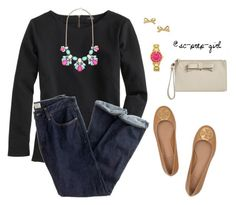 """""""School Prep"""" by sc-prep-girl ❤ liked on Polyvore featuring J.Crew, Forever New, Tory Burch and Kate Spade"""