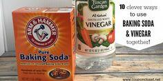 uses for baking soda and vinegar facebook image
