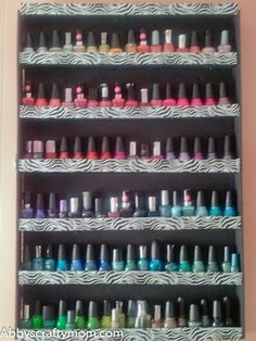 nail polish rack from foam board and duct tape...my niece Courtney would love!
