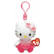 Ty Hello Kitty Ballerina Keyring Clip Plush Toy
