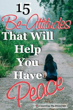You know your attitude is important if you want personal and relational peace…