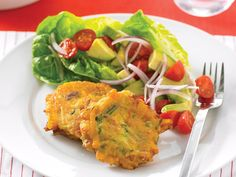 Bacon,pumpkin and zucchini fritters, bacon recipe, brought to you by recipes+