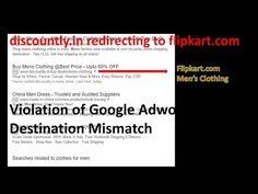 Destination Mismatch Policy Violation : Discountly.in REDIRECTING to Flipkart.com