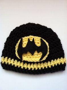 Batman Super Hero Crochet Baby Hat. $12.50, via Etsy.
