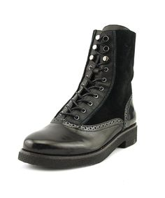 FRENCH CONNECTION   French Connection Vanja Women  Round Toe Synthetic Black Combat Boot #Shoes #Boots & Booties #FRENCH CONNECTION