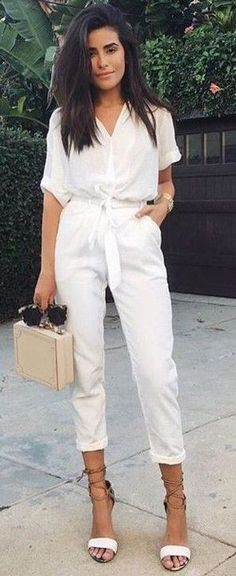 all white. MUST copy this look this spring