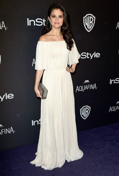 The Afterparties Deliver Another Dose of Golden Globes Glamour 2016 | Selena Gomez Wearing a J. Mendel gown and Jacob & Co. jewels.