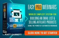 Easy Pro webinar is a web-based [SaaS] that allows people to create webinars automatically in just one minute. It is a fully automated solution to build high. Run Today, Content Marketing Strategy, Email List, Wordpress Plugins, Decision Making, 6 Years, How To Introduce Yourself, Affiliate Marketing, Save Yourself