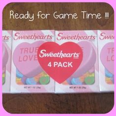 conversation heart party games from The Party Animal