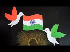 Hello Everyone. Paper Craft For Independence Day Independence Day Activities, Independence Day Decoration, Independence Day Greetings, Independence Day Flag, Independence Day Background, Bird Paper Craft, Bird Crafts, Art N Craft, Paper Crafts For Kids