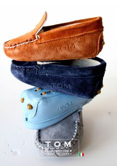Little loafer love... BM needs these!  TOM by Le Petit Tom ® MOCCASIN  8tom grey