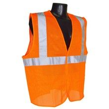 Radians Hi Vis Orange Mesh Vest Class 2 SV2OM | Hi Vis Safety Direct will beat any other price , we are #1 in Hi Visibility Items .
