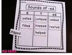 Sounds of ED worksheet and tons more ideas and resources to practice prefixes suffixes inflectional endings etc. on this site!