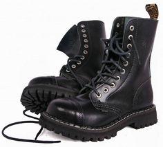 BOOTS STEEL TOE RANGERS 10 HOLE Bovver Skinhead Gothic Punk   eBay  Армейские Ботинки, Vogue a9897b2b304