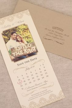 another save the date, kyle and i would do diff color paper and not write on a board.