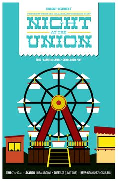 Night at the Union by Kenji Enos #kenjienos - Graphic Design Poster