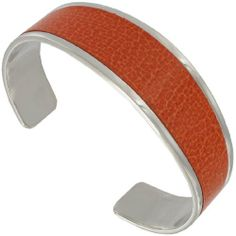 Hadley Roma Stainless Steel Orange Leather Cuff Bracelet Hadley Roma. $57.95. Genuine Leather. Stainless Steel Metal