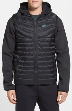 Men s Nike  Aeroloft Windrunner  Quilted Down   Fleece Reversible Hooded  Jacket Chaqueta Con Capucha 2fee28b88ac