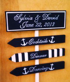Nautical Wedding Signs