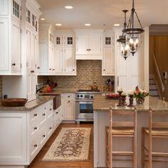 wunderschöne helle und gemütliche küche in hamburg. #kitchen ... - Küche Gemütlich