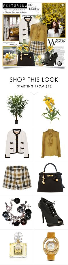 """She has amazing style.."" by mrstom ❤ liked on Polyvore featuring Nearly Natural, Moschino, By Malene Birger, Alice + Olivia, Hermès, Louis Vuitton, Christian Dior, Guerlain and Versace"