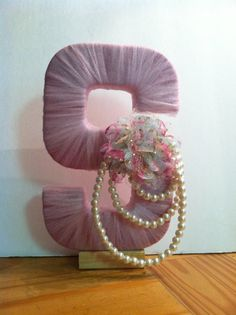Tulle wrapped letter ( No link, just idea).