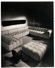 """Harvey Probber was the originator of modular seating, and a seminal force in mid-century furniture design. The Probber estate has authorized to reissue Harvey Probber furniture designs. """"Harvey Probber"""" is a registered trademark of HP Modern, LLC. Cozy Furniture, Modern Furniture, Furniture Design, Furniture Removal, Luxury Furniture, Tufted Sofa, Sectional Sofa, Couches, Sofa Design"""