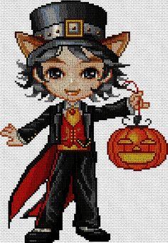 Halloween nomo en punto de cruz www.nacaranta.com
