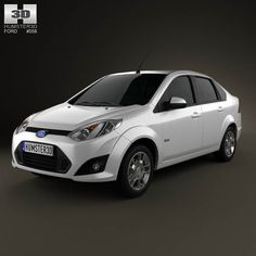 Ford Fiesta Rocam sedan (Brazil) 2012 3d model from humster3d.com. Price: $75