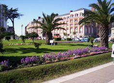 La plaza  Colón Mar del Plata