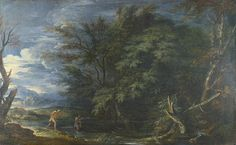 Salvator Rosa - Landscape with Mercury and the dishonest woodman