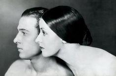 Rudolph Valentino and Natacha Rambova by James Abbe 1925