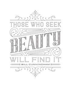 Those Who Seek Beauty by Clairice Gifford, via Behance  niftyswank.etsy.com