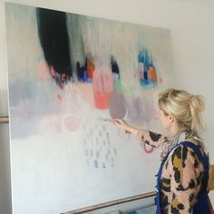 Some last minute touches to my new collection #painting #abstractpainting #loladonoghue