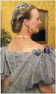 Margarethe in her younger days wearing the floral aigrette around the back of her head.
