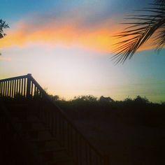 @sunsethappyglows photo: Sunset tonight :)) #sunset #beautiful #balcony #beachy #palms #colorful #jw #florida