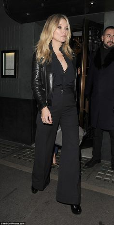 Working it: The 42-year-old proved she's still the reigning queen of British fashion