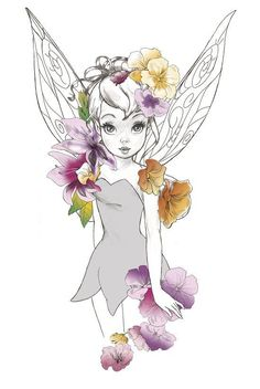 Fly to Neverland - Hiatus — tinkeperi: Disney's Tinkerbell:) Tinkerbell And Friends, Tinkerbell Disney, Tinkerbell Fairies, Disney Fairies, Tattoo Tinkerbell, Merida Disney, Disney Artwork, Disney Fan Art, Disney Drawings