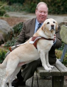 Guide Dog — Roselle Novato, Calif.  VIEW ROSELLE'S TRIBUTE VIDEO  On Sept. 11, 2001, my guide dog (for the blind), Roselle, and I were worki...