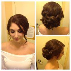bridal low bun wedding hair