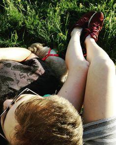 """Piękne parówki i dwa lenie"" - @martarozek 2017  #spring #summer #holidays #sunday #funday #pug #cute #puppie #dog #kid #happy #sun #chill"